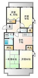 阪神浜甲子園マンション[4階]の間取り