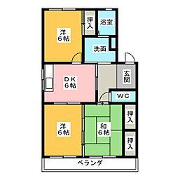 愛知県名古屋市南区元鳴尾町の賃貸マンションの間取り