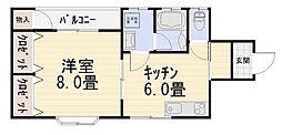プロムナード川村[103号室号室]の間取り