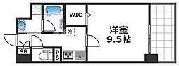 グランパシフィック花園Luxe 7階1Kの間取り