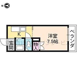 アベニュー千鶴[401号室]の間取り