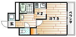 エース八幡マンション[2階]の間取り