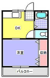 埼玉県鴻巣市富士見町の賃貸アパートの間取り