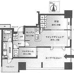 大阪府大阪市中央区谷町1丁目の賃貸マンションの間取り