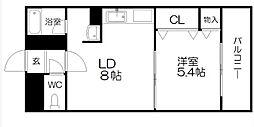 ベルマーレ八軒[3階]の間取り