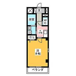 駅前町アビタシオン[2階]の間取り
