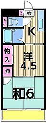 東京都足立区伊興4の賃貸マンションの間取り