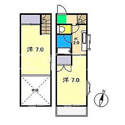 コーポまき[3階]の間取り