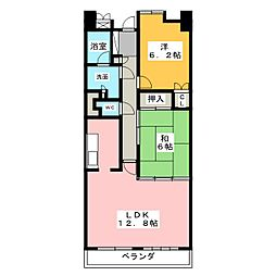 パークシティ上小田井 スカイコ−ト[13階]の間取り
