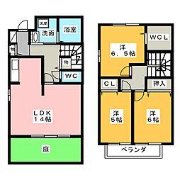 [テラスハウス] 愛知県岡崎市真伝吉祥2丁目 の賃貸【愛知県 / 岡崎市】の間取り