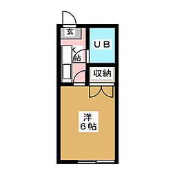 千代コーポ[2階]の間取り