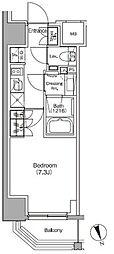JR総武線 飯田橋駅 徒歩4分の賃貸マンション 4階1Kの間取り