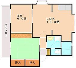 パルハイムA[2階]の間取り