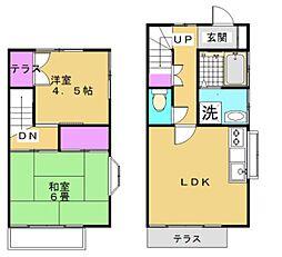 [テラスハウス] 神奈川県藤沢市下土棚 の賃貸【神奈川県 / 藤沢市】の間取り
