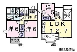 神奈川県横浜市都筑区桜並木の賃貸アパートの間取り