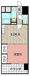 ヒット砂津BLD[502号室]の間取り