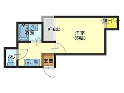 大阪府大阪市生野区新今里5の賃貸マンションの間取り