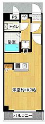 JR大阪環状線 野田駅 徒歩8分の賃貸マンション 6階1Kの間取り