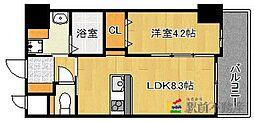 福岡県福岡市南区野間1丁目の賃貸アパートの間取り