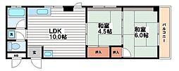 コーセイハイツ[2階]の間取り