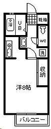 リバティハウス[215号室]の間取り