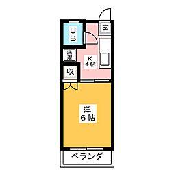 メゾンサンク[2階]の間取り