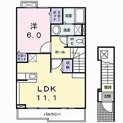 ラフレシール(志津川町)[202 号室号室]の間取り