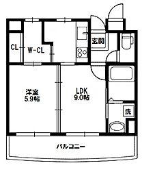 キャニスコート[8階]の間取り
