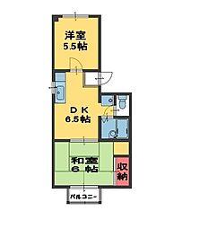 メゾン松崎[3階]の間取り