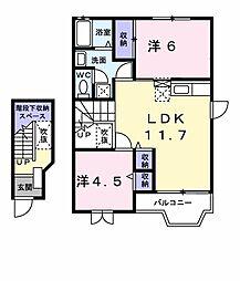 コータ・コートSHOII[203号室]の間取り