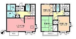 [テラスハウス] 神奈川県横浜市都筑区荏田南5丁目 の賃貸【/】の間取り