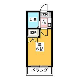 ミヤタハイツ[2階]の間取り