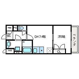 オープストフェルト[2階]の間取り