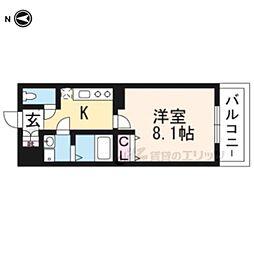 アドバンス京都アリビオ302 3階1Kの間取り
