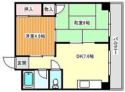 コーポカトレア[7階]の間取り