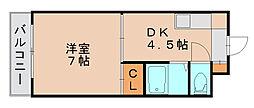 愛和九大前ビル[3階]の間取り