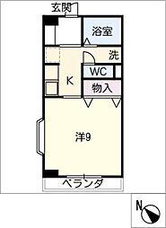 アメニティ三崎[2階]の間取り