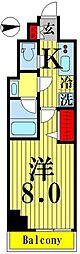 ティモーネグランデ錦糸町 5階1Kの間取り