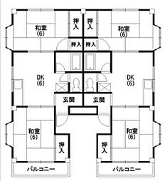 ハイムコバヤシ[2-2号室]の間取り