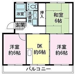 土屋ハウス[00403号室]の間取り