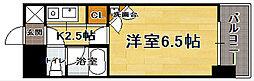 福岡県福岡市中央区渡辺通3の賃貸マンションの間取り