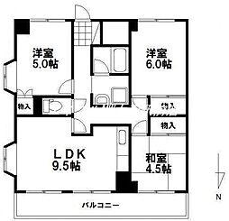 アンシャンテ岡山[8階]の間取り