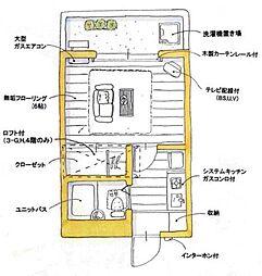 ユトリロ草間[3-B号室]の間取り