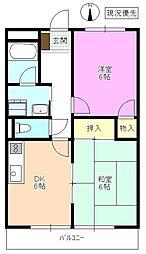 長野県松本市寿北6丁目の賃貸アパートの間取り