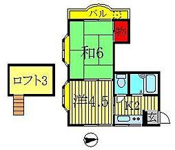 LEAFCOURT江戸川台A・B[A202号室]の間取り
