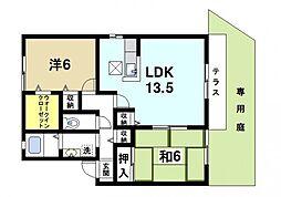 フィエスタ平松[1階]の間取り