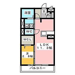 プロシードIII[1階]の間取り
