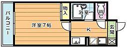 ギャラン工大駅前[203号室]の間取り