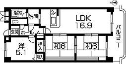 田寺グランドヒルズ[4階]の間取り