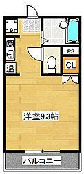 ニューコンフレール武石[102号室]の間取り